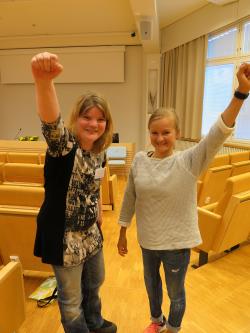 Hanna Grandell ja Liisa Lilja. Kuva: Jenny Salo