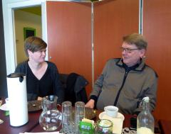 Minna Lonka ja Sotekin toimitusjohtaja Raimo Korjus