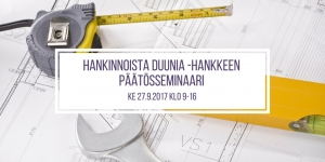 Hankinnoista duunia -hankkeen päätösseminaari