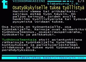Yle Teksti-TV:ssä tietoa myös osatyökykyisten työllistymisen tuista