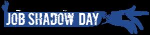 Job Shadow Day logo - sininen käsi.