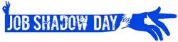 Job Shadow Day logo - sininen käsi
