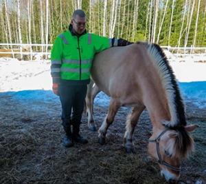 Teuvo Rytkönen ja hevonen.
