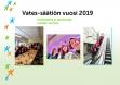 Vatesin vuosi 2019 kansi, jossa mm. kuvia vateslaisista ja logohahmoja.