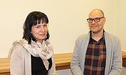 Opinto-ohjaaja Emma Nylund ja erityisopettaja Harri Aaltonen