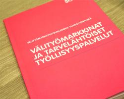 Välitymarkkinat ja tarvelähtöiset työllisyyspalvelut -julkaisun kansi.