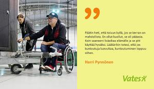 Yrityshaaveet toteutuivat vammautumisen jälkeen
