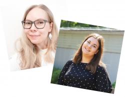 Johanna Puttonen ja Meeri Riihelä.