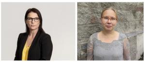 Kuvassa kirjoittajat Marjo Jokipii ja Anne Kallio.