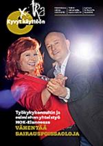 Extralehti hallintopäättäjille lehden kansi, tanssiva pari ja linkki lehden pdf-tiedostoon.