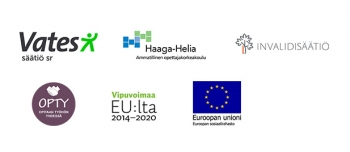 Vatesin, Invalidisäätiön, OPTYn, Haaga-Helian ja ESR logot