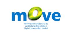 Move-projektin logo - tyyllitellyt kirjaimet.