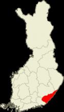 Suomen kartta Etelä-Karjala