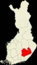 Suomen kartta - Etelä-Savo