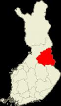Suomen kartta Kainuun alue kartalla