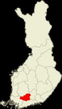 Kanta-Häme Suomen kartalla