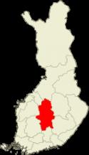 Keski-Suomi Suomen kartalla