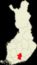 Suomen kartta - Pohjois-Häme sijainti