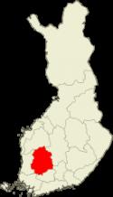 Pirkanmaa Suomen kartalla