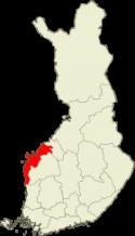 Pohjanmaa Suomen kartalla