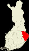 Pohjois-Karjala Suomen kartalla