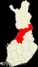 Pohjois-Pohjanmaa Suomen kartalla