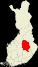 Suomen kartta - Pohjois-Savo sijainti