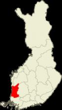 Satakunta Suomen kartalla