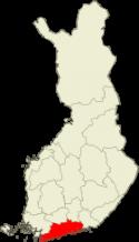 Suomen kartta - Uusimaa sijainti