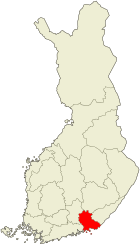 Kymenlaakso Suomen kartalla