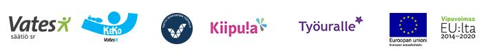 Logot: Vates, Keko, Veikkaus, Kiipula, Työuralle, ESR