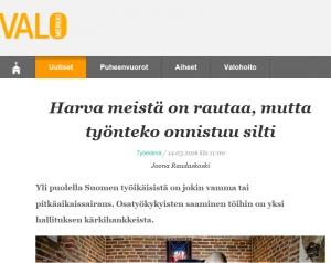 Helsingin seurakunta palkkaa osatyökykyisiä