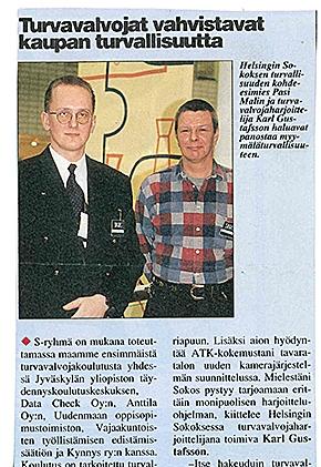 Turvavalvojat vahvistavat kaupan turvallisuutta (Ässä 1997)