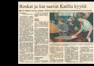 Roskat ja liat saavat Katilta kyytiä (Keski-Suomalainen 1997)