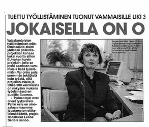 Projektipäällikkö Leena Sariola on kiitollinen, että projekti on otettu työnantajien keskuudessa hyvin vastaan,