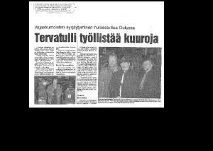 Tervatulli työllistää kuuroja (Pohjolan työ 8.11.1998)