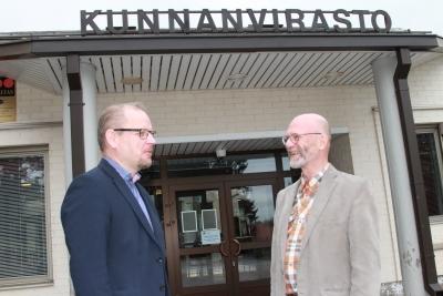 Kuvassa Vesa Lakaniemi (vas.) ja Alpo Komminaho